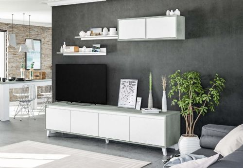 Nocca GREY and WHITE TV CABINET - 2964
